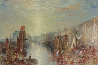 J.M.W Turner's Le Havre: Sunset in the port c. 1832.