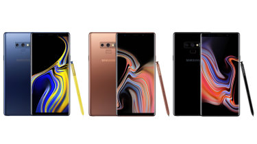 New colours help differentiate the Note9 from the very similar-looking Note8.