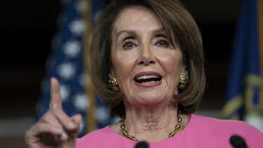 US Speaker of the House and chief Trump opponent Nancy Pelosi.