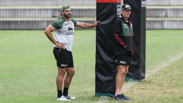 Right on: Greg Inglis's versatility will see him move to right centre against the Roosters.