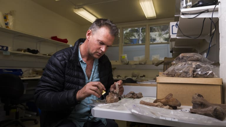 Associate professor at ANU Geoff Clark was part of the team that analysed bones from Madagascar.