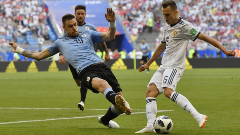 Surprise star: Denis Cheryshev was not expected to shine as he has this World Cup.