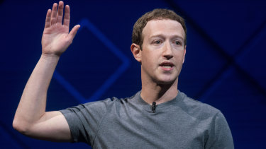 'My mistake': Facebook chief Mark Zuckerberg.