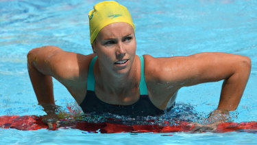 Overloaded: Emma McKeon was troubled by a shoulder injury before the Commonwealth Games.
