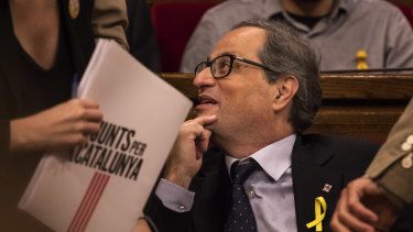 Catalonian separatist Quim Torra is the latest candidate for regional president.