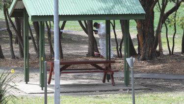 Nicole Cartwright's body was found by a council worker at a Hunters Hill park last week.