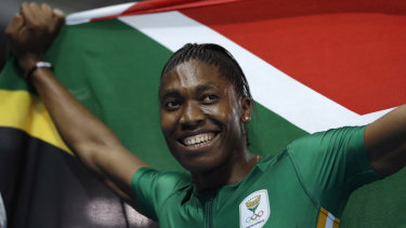 South Africa's Caster Semenya.