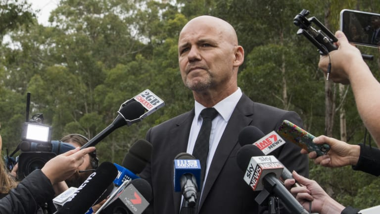Detective  Chief Inspector Gary Jubelin addressing the media in Kendall in June 2018.
