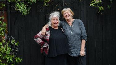 Melbourne theatre director Susie Dee, (left), and playwright Patricia Cornelius.