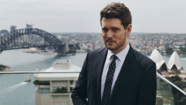 Michael Buble at the InterContinental in Sydney on October 3.