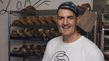James Partington, from Staple Bread & Necessities, has been baking with kangaroo grass seed.
