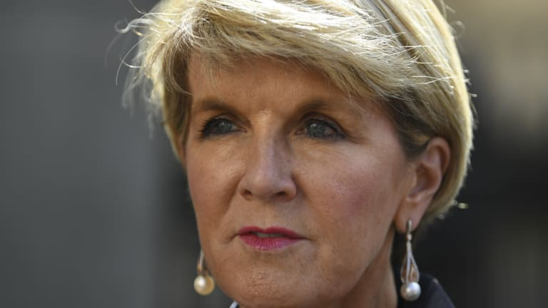 Julie Bishop, whose ability to relate to China was called into question this week.