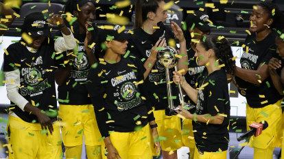 'I've taken a lot away': Ezi's joy as Storm sweep Aces to claim fourth WNBA title