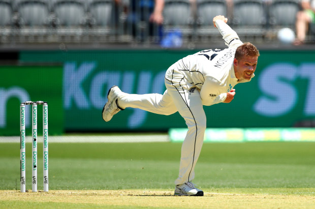 NZ paceman Lockie Ferguson will not bowl again in the first Test.