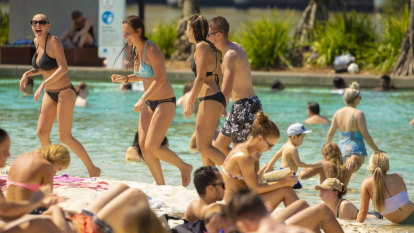 Records predicted but Brisbane escapes hottest day of the year