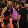Hit for six: Essendon faces ruck shortfall in run to finals