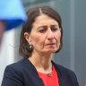 NSW Premier Gladys Berejiklian at a press conference on Monday.