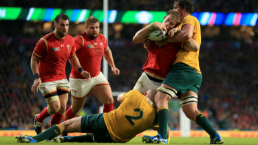 Held up: The Wallabies are preparing for another tough battle with Wales