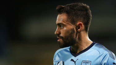 Wanted man: Sydney FC hoping to keep on loan midfielder Anthony Caceres permanently.