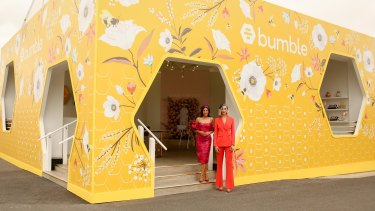 All the buzz ... the new Bumble marquee at Flemington.