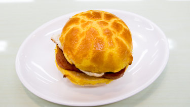 Kowloon's Cafe's egg and Spam pineapple bun.