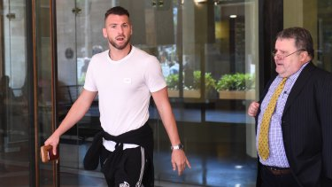 Marko Simic and his lawyer Robert Haralovic leaving the Downing Centre.