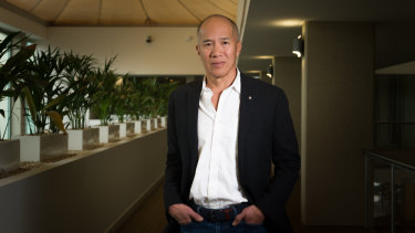 Brain surgeon Charlie Teo in Canberra on Saturday.