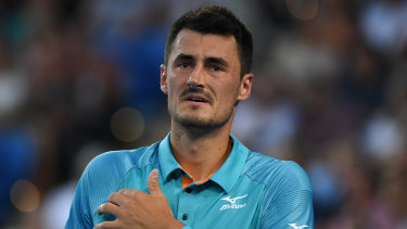 Davis Cup rift: Bernard Tomic slammed Lleyton Hewitt after his defeat by Marin Cilic at Melbourne Park.