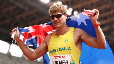 James Turner after his race.