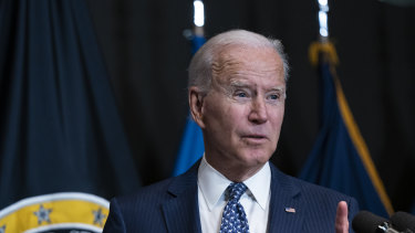 US President Joe Biden at the  Office of the Director Of National Intelligence headquarters discussed plans for more vaccinations.