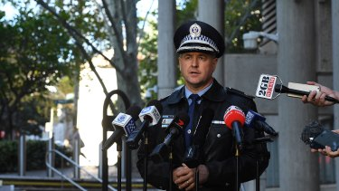 Assistant Commissioner Mick Willing speaks at a press conference on Thursday.