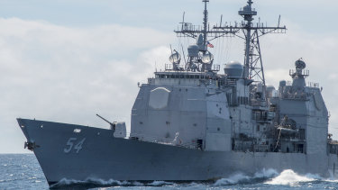 US officials said China had denied a request for a US Navy ship to make a port visit next month at Hong Kong.