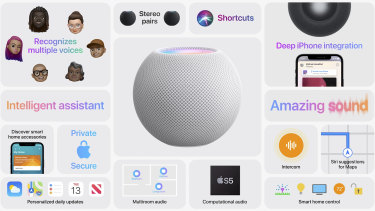 The new HomePod Mini has a range of features.