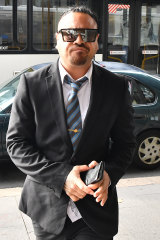 """Teremoana """"Tere"""" Tekii arrives at the Downing Centre District Courton Thursday."""