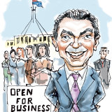 Christopher Pyne has opened up a new business. Illustration: Joe Benke
