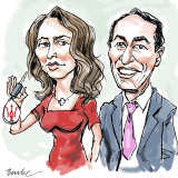 Rebekah Giles and Dave Sharma. Illustration: Joe Benke