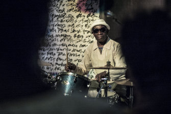 Pioneering African drummer Tony Allen, whose influential career spanned decades and continents, plays in concert with Senegalese musician Cheikh Lo in Dakar, Senegal in 2017.