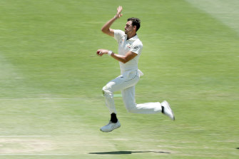 Just bowl fast: Mitchell Starc.