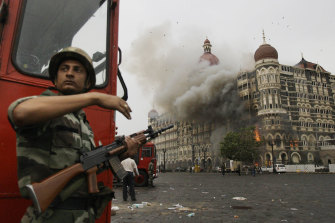 The terrorist attack on Mumbai's Taj Mahal Palace in November 2008 was the subject of the 2018 film <i>Hotel Mumbai</i>.