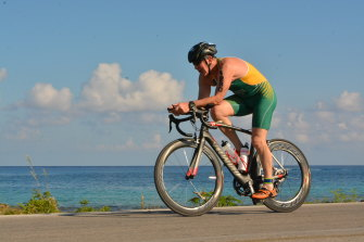 The author is a keen triathlete and was about to compete in Lausanne before his diagnosis.