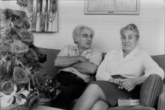 """That affection grew."" Professor Julius Sumner Miller and his wife Alice celebrating their 46th wedding anniversary. Pictured at the Sebel Town House. April, 1980."