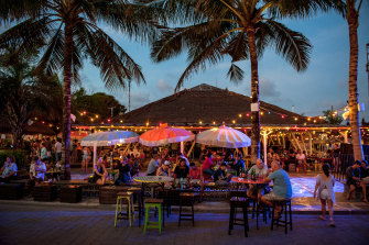 Something for everyone: punters flock to the bars at Old Man's in Canggu from sunset to midnight.
