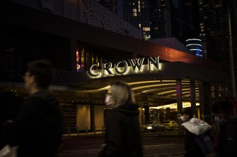 Crown's shares have fallen by around a third in light of the Victorian inquiry.