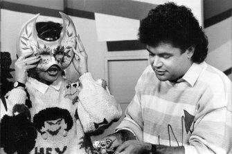 Daryl Somers and Jacki MacDonald on Hey Hey It's Saturday in 1986.