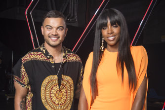 The Voice coaches Guy Sebastian and Kelly Rowland are currently in the US.