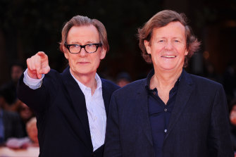 David Hare and actor Bill Nighy at a premiere in Rome in 2011.