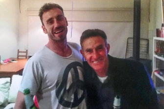 Shane Tuck (left) with his father champion Hawthorn footballer Michael.