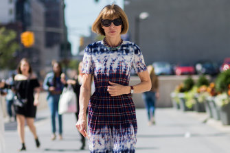 Anna Wintour during New York Fashion Week.