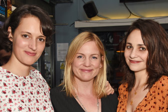 "Besties: Phoebe Waller-Bridge, Vicky Jones and actor Tuppence Middleton at the after party for ""The One"" in 2018."