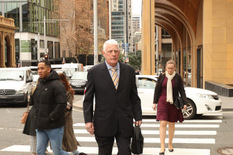 Ben Roberts-Smith's father Len arriving at the Federal Court on Tuesday.